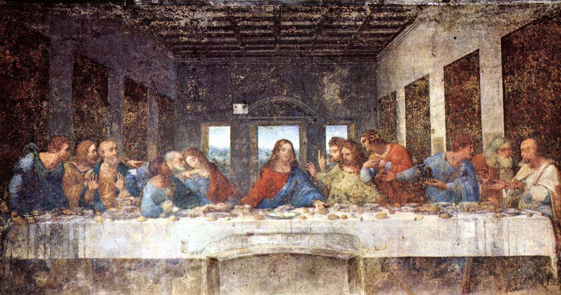 last supper paintings tapestries Da Vinci Last Supper Restored